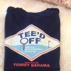 TOMMY BAHAMA RELAXED FIT TEE. NAVY. NWOT